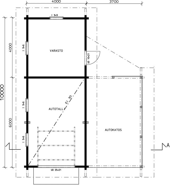 autotalli-1-pohjapiirros